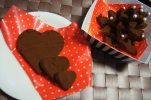 ダイソーの星形で簡単生チョコツリー