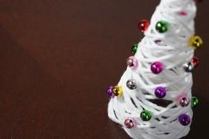 DIY 毛糸を使ったクリスマスツリー