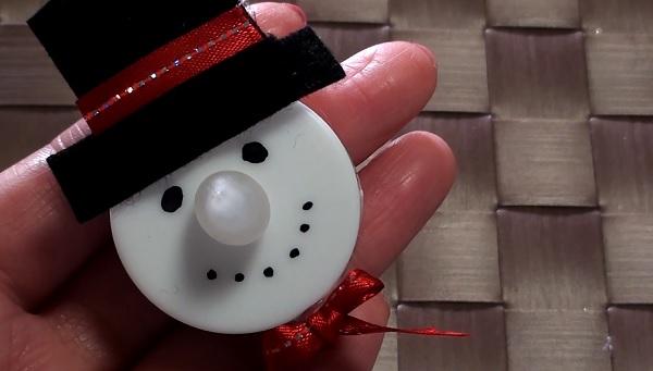 【DIY】簡単♪100均アイテムで作れるLED スノーマンオーナメント 2016☆ LED tea light Snowman Ornament